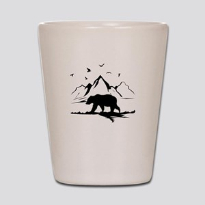 Mountains Wilderness Bear Shot Glass