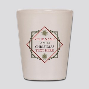 Family Christmas Personalized Shot Glass