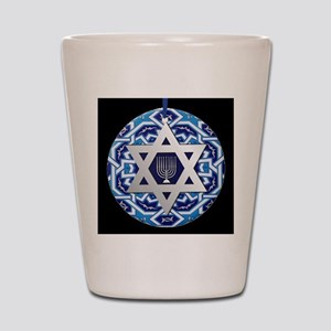 JEWISH STAR AND MENORAH Shot Glass