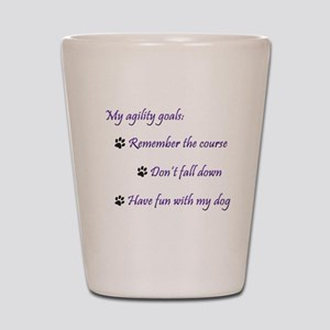My Agility Goals Shot Glass