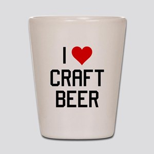 I Heart Craft Beer Shot Glass