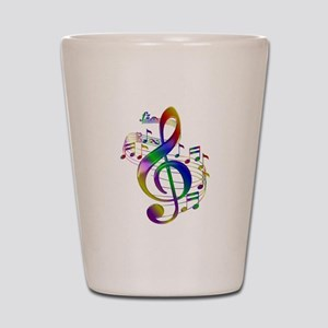 Colorful Treble Clef Shot Glass