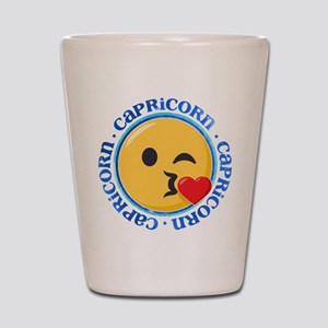 Emoji Capricorn Horoscope Shot Glass