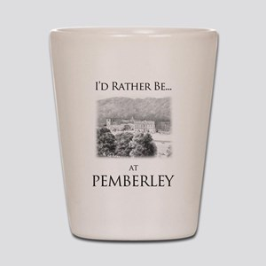 I'd Rather Be At Pemberley Shot Glass