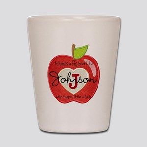 Teacher Personalize Initial:Name: Apple heart Shot