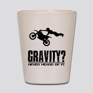Gravity? Motocross Shot Glass