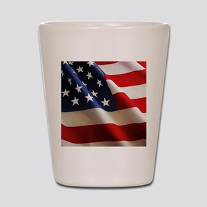 Wavy Flag Shot Glass
