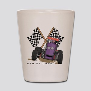 Sprint Cars Shot Glass