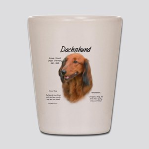 Longhair Dachshund Shot Glass