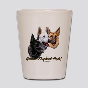 German Shepherds Rock Shot Glass