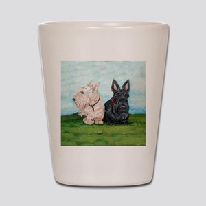 Scottish Terrier Companions Shot Glass