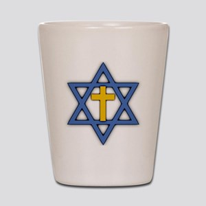 Star of David with Cross Shot Glass