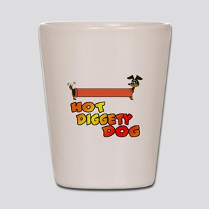 Hot Diggety Dog Daschund Shot Glass