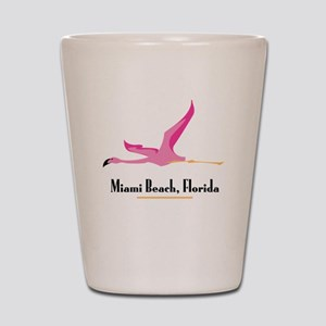 Miami Beach Flamingo - Shot Glass