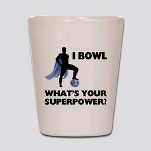 Bowling Superhero Shot Glass