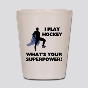 Hockey Superhero Shot Glass