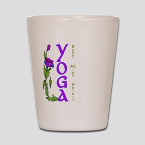 Yoga- Body, Mind and Spirit Shot Glass