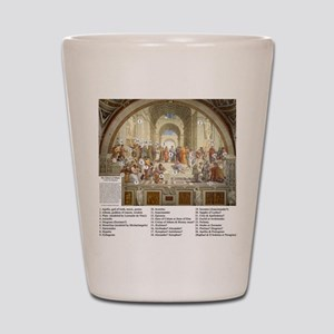 Who is in The School Of Athens Shot Glass