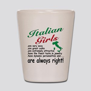 Italian Girls Shot Glass