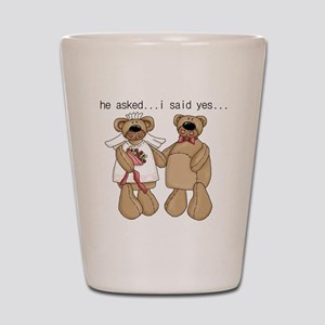 Bride and Groom Bear Shot Glass