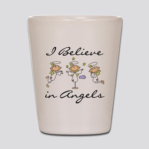 I Believe in Angels Shot Glass