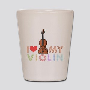 I Love My Violin Shot Glass