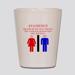 funny math statistics Shot Glass