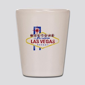 Las Vegas Sign Distressed Shot Glass