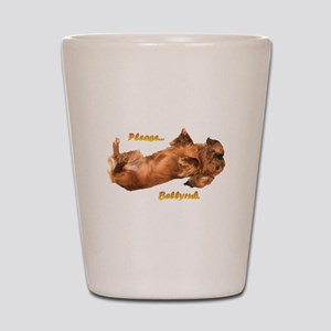 Bellyrub Doxie Shot Glass