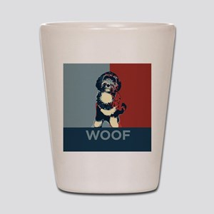 Bo The First Dog WOOF Shot Glass