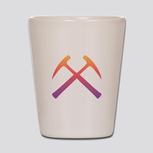 Sunset Crossed Rock Hammers Shot Glass