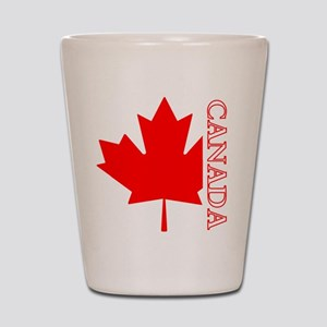 Candian Maple Leaf Shot Glass