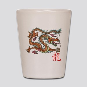 Chinese Dragon NEW red Shot Glass