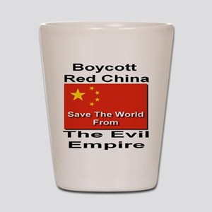 Boycott Red China Shot Glass