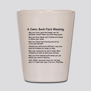 Comic Book Blessing Shot Glass