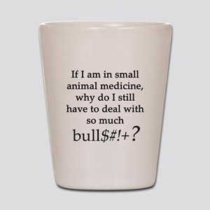 Small Animal Medicine Bull**** Shot Glass