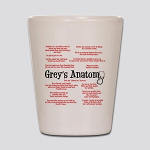 Grey's Anatomy Quotes Shot Glass
