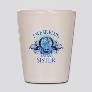 I Wear Blue for my Sister (fl Shot Glass