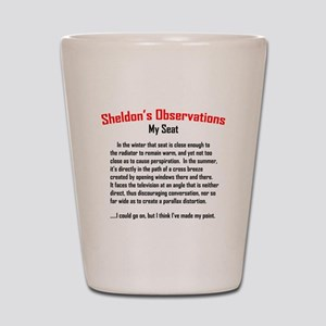 Sheldon's My Seat Quote Shot Glass