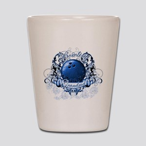 Bowling Grandma (Blue) Shot Glass