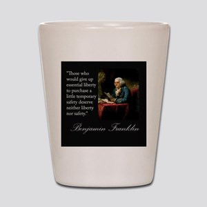 Ben Franklin Quote Portrait Shot Glass