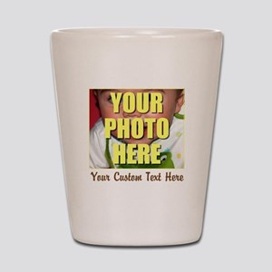 Custom Photo and Text Shot Glass