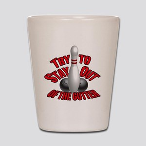 Bowling dirty humor Shot Glass