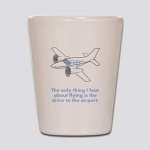 Airplane Fear Shot Glass