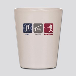 Eat Sleep Baseball Shot Glass