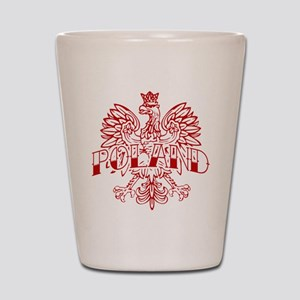 Poland Ink Red Eagle Shot Glass