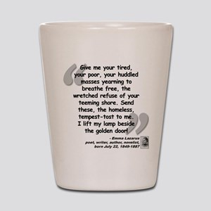 Lazarus Liberty Quote Shot Glass