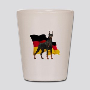 German Flag Doberman Shot Glass