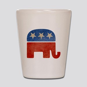 Republican Logo -Faded Shot Glass