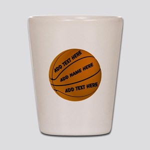 Personalized Basketball Shot Glass